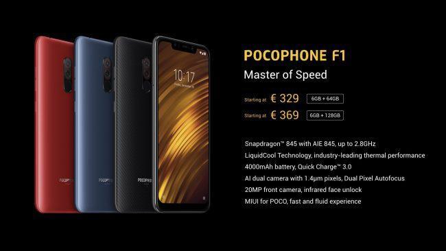 Precio del Pocophone F1
