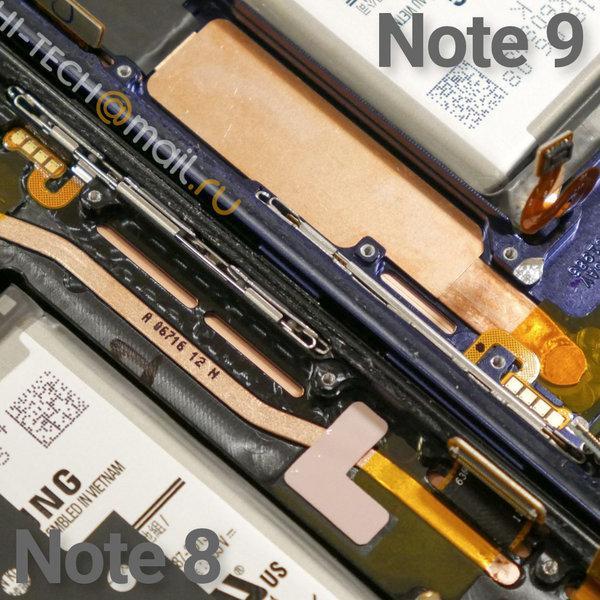 Imagen refrigeración líquida del Samsung Galaxy Note 9