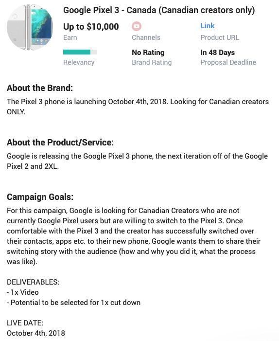 Fecha presentación Google Pixel 3