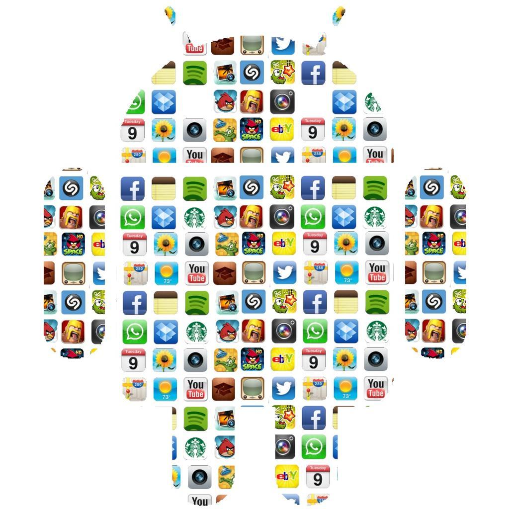 Logo de Android con aplicaciones
