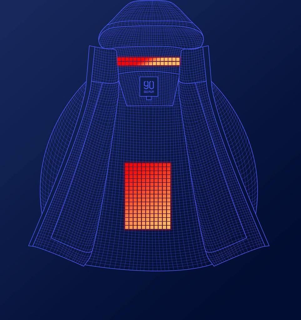 Calefacción en la chaqueta de Xiaomi