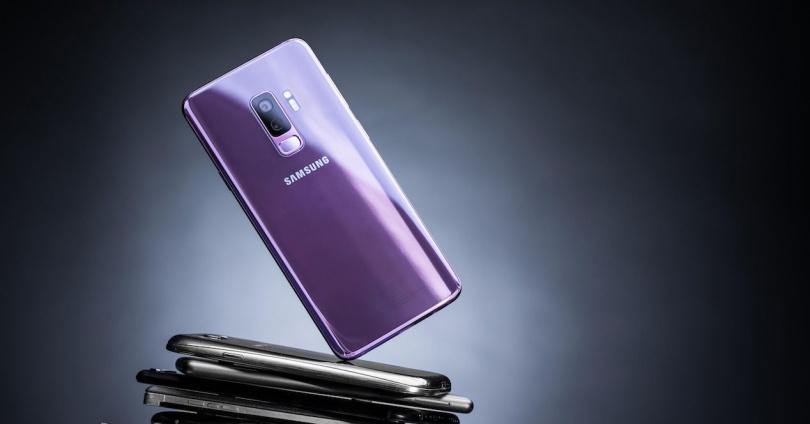 Samsung Galaxy S9+ por detrás