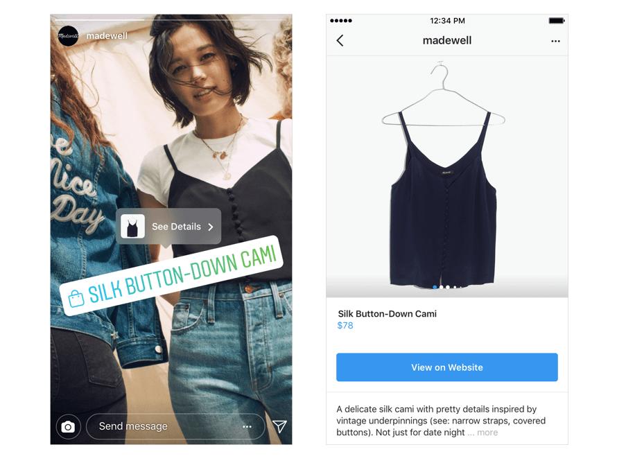 Nuevas ventas en Instagram