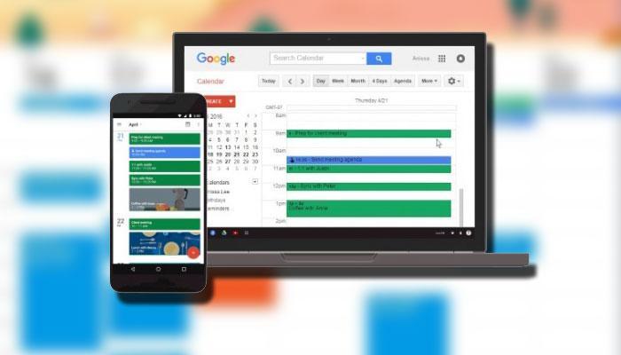 Google Calendar uso con fondo color
