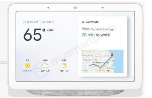 Google Home Hub por delante