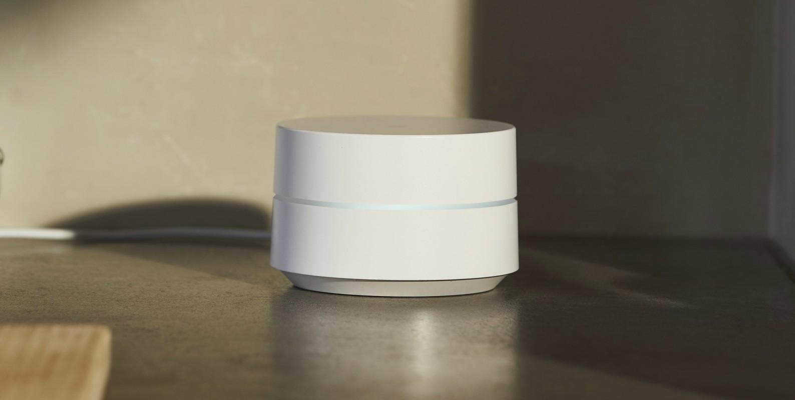 Router Google WiFi en uso