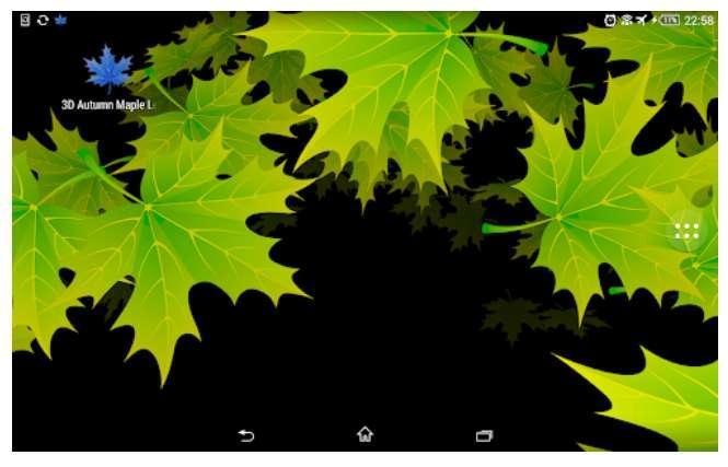 Aplicaicón 3D Hojas de Arce del Otoño