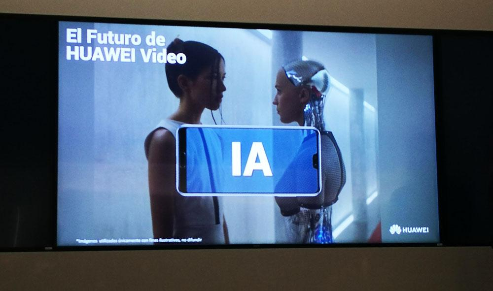 Uso de IA en Huawei Video