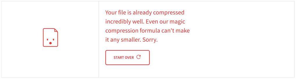 Imposible reducir un archivo PDF