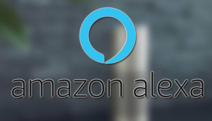 Logotipo de Amazon Alexa con fondo gris