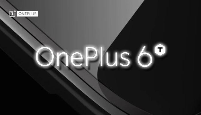 Logotipo del OnePlus 6T con fondo negro
