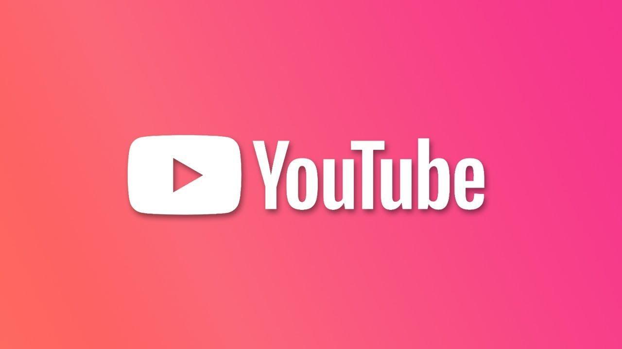 Logotipo de YouTube con fondo rojo