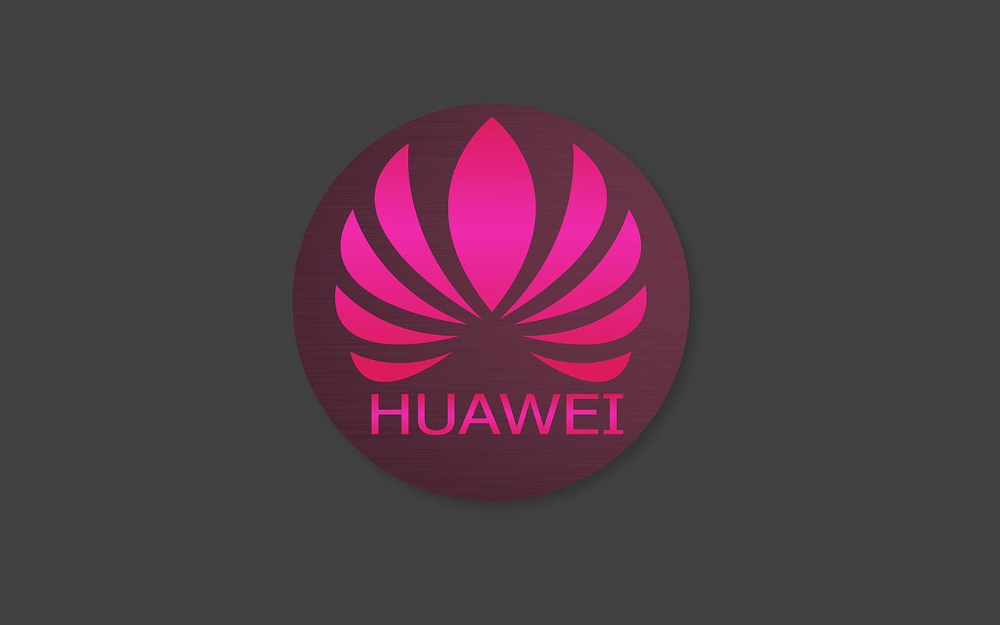 Logotipo de Huawei con fondo gris