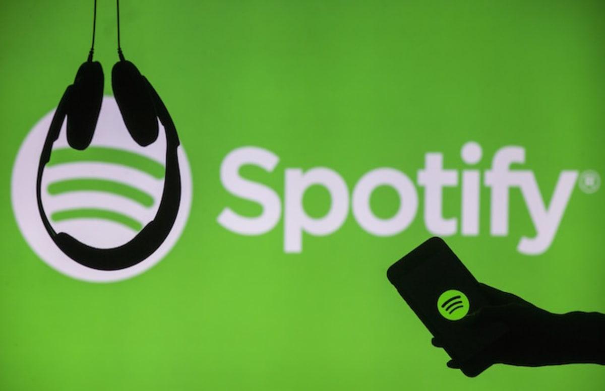 Lofgo de Spotify con fondo verde