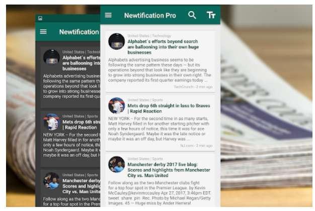 Aplicación Newtification News