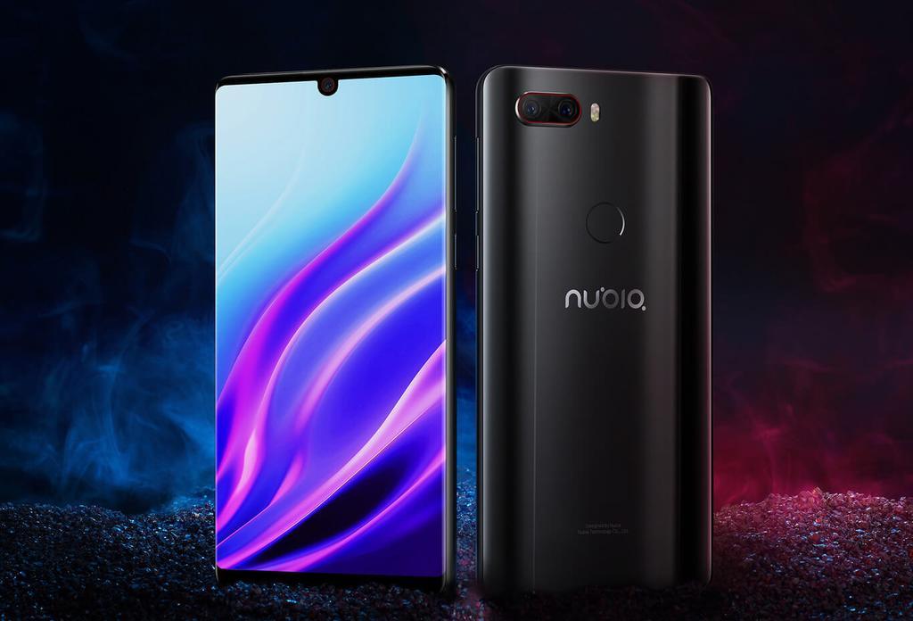 Diseño del Nubia Z18 con fondo negro