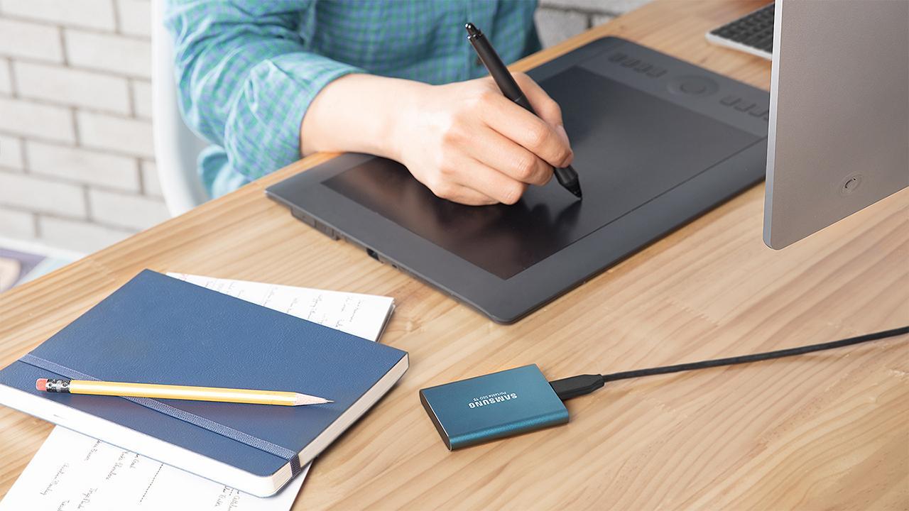 Uso del disco Samsung T5 Portable SSD