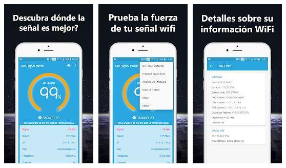 Aplicación Medidor de fuerza de señal WiFi Pro