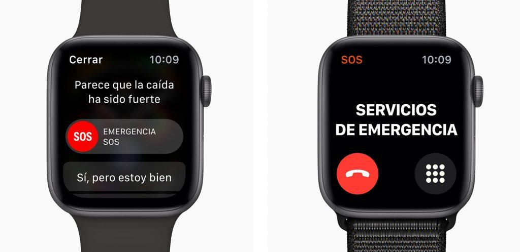 Apple Watch Series 4 detección de caídas