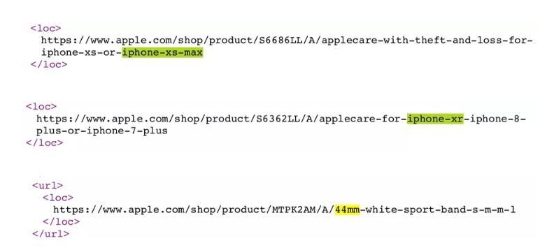 código fuente del iPhone XS