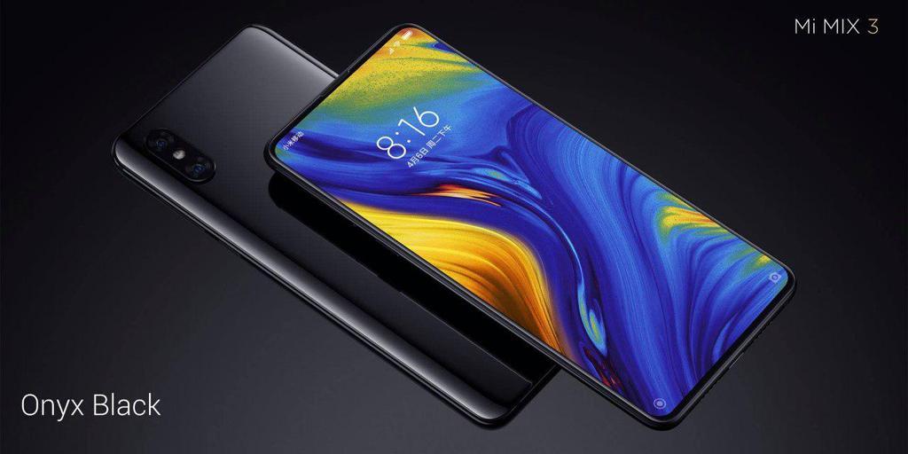 Cámara con dos sensores en el Xiaomi Mi Mix 3 de color negro