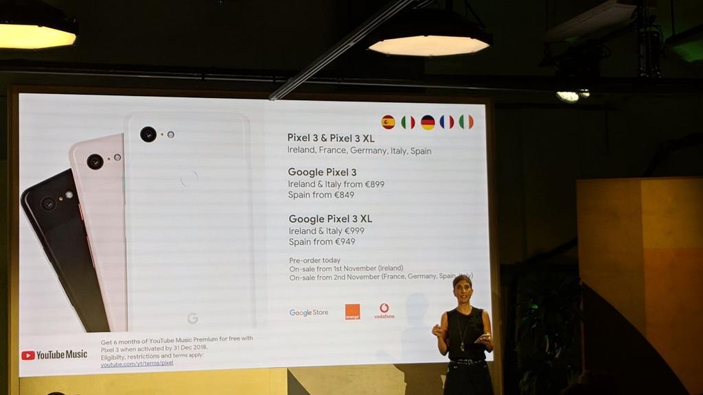 Precios y fecha de lanzamiento del Pixel 3