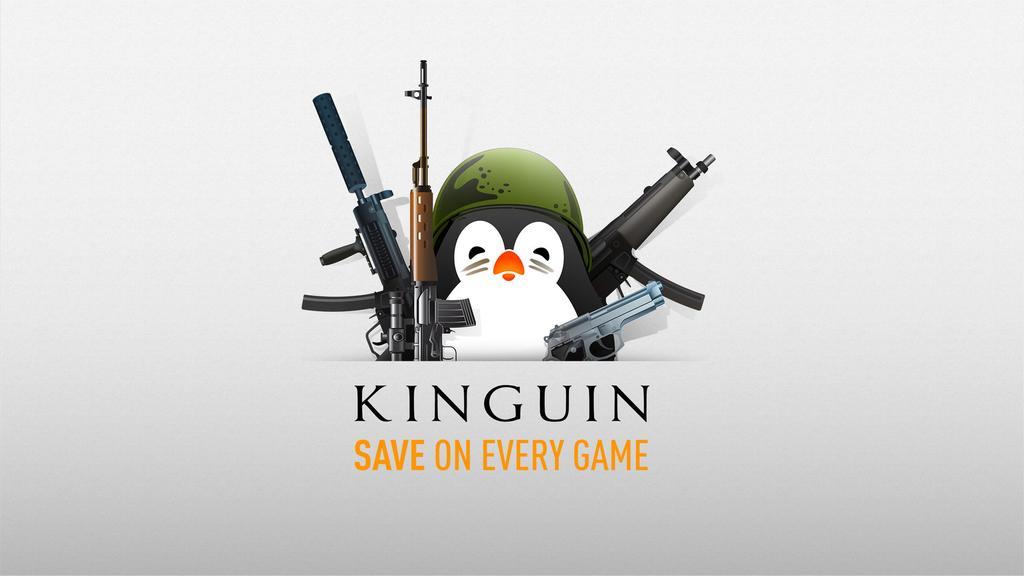 Logotipo de Kinguin para comprar juegos de Steam baratos