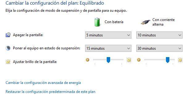 Calibrado de batería en Windows 10