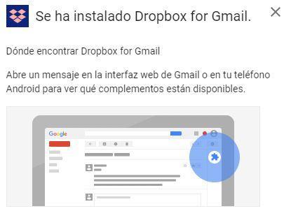 Integración de Dropbox en Gmail