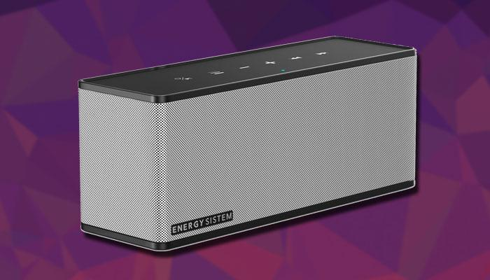 Altavoz Energy Music Box 7+ con fondo morado