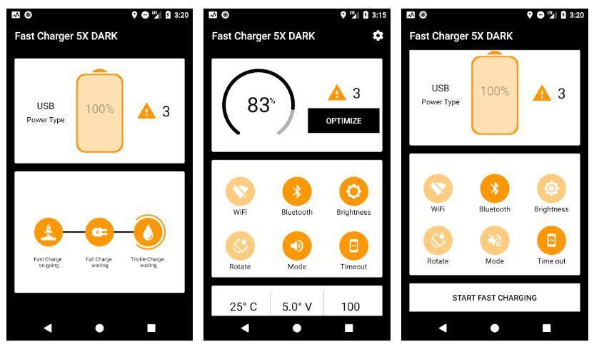 Aplicación Fast Charger 5x - Dark