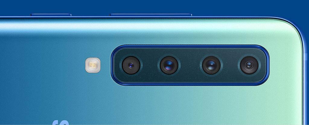 Aspecto de la cámara trasera del Samsung Galaxy A9