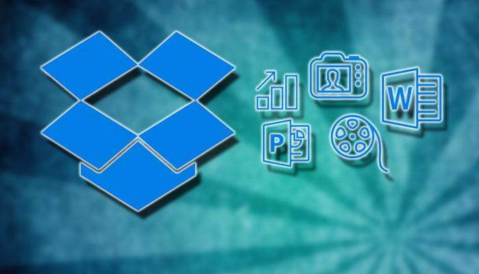 Logotipo de Dropbox con fodo espiral