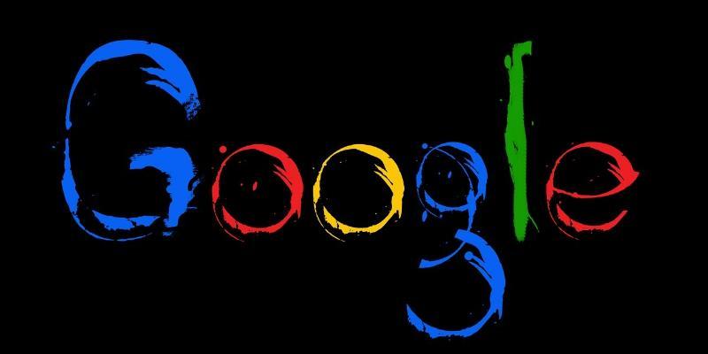 Logotipo de Google con fondo negro