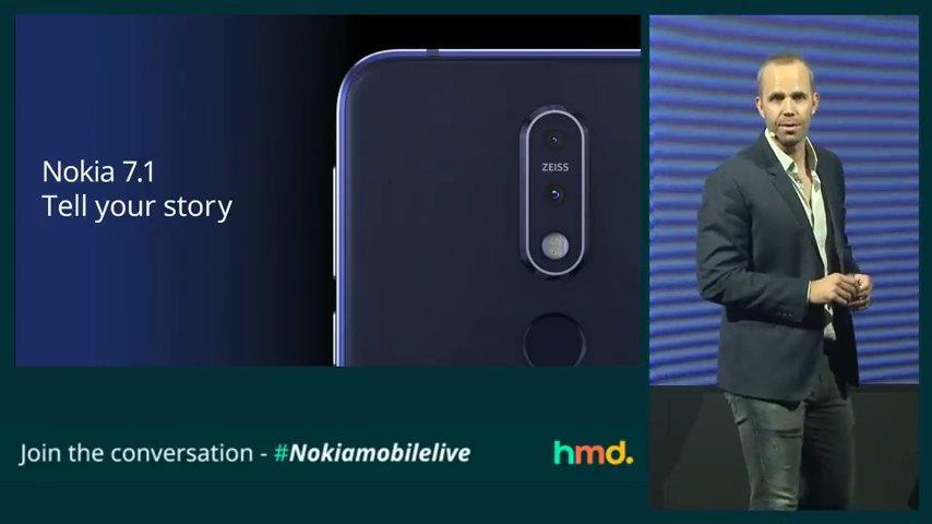 Cámara del Nokia 7.1