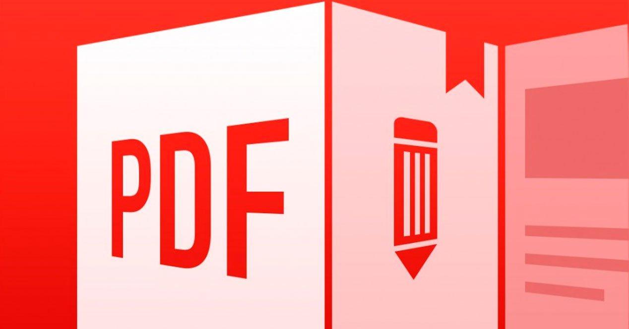 Logo PDF con fondo rojo