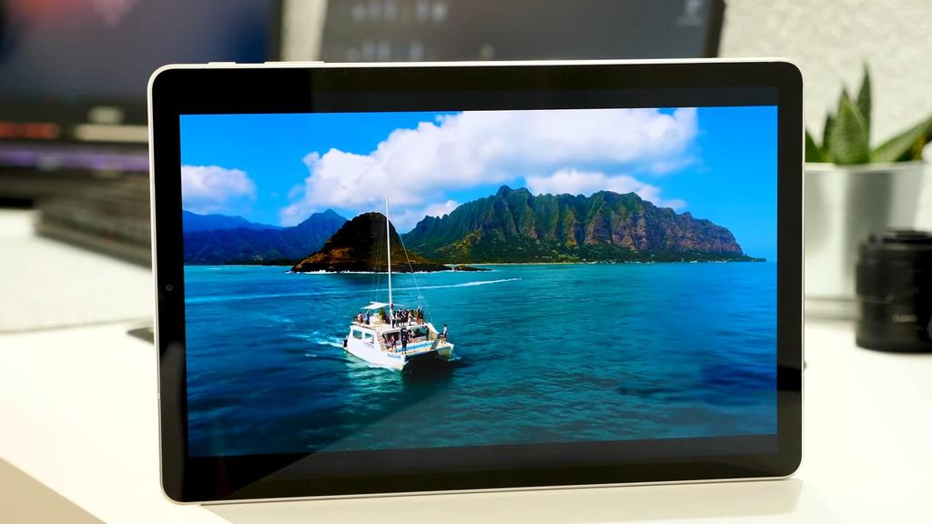 Screen of the Samsung Galaxy Tab S4