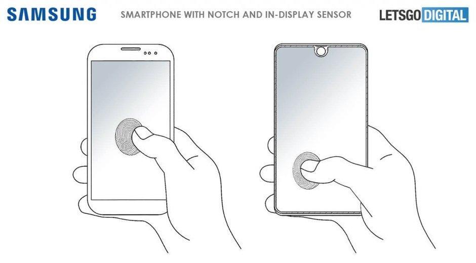 Patente lector huellas pantalla Samsung Galaxy S10