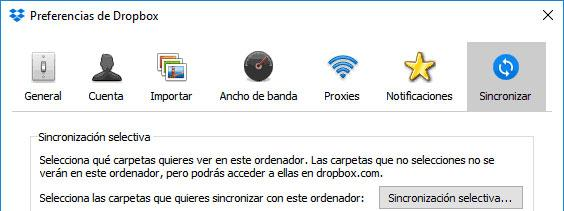Sincronizar en Dropbox