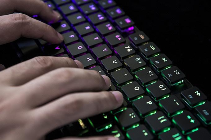 RGB del Teclado mecánico Keytron