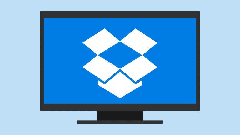 Logotipo de Dropbox en pantalla de ordeandor