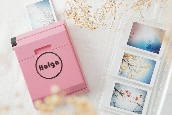 impresora portátil Holga en rosa