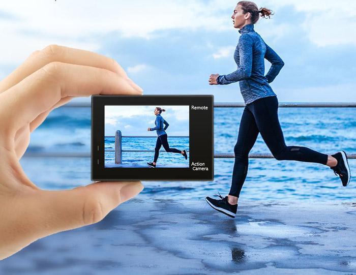 Uso de cámara deportiva