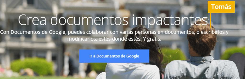 Inicio de Documentos Google