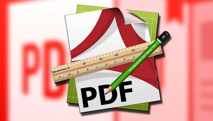 Editar PDF con fondo rojo