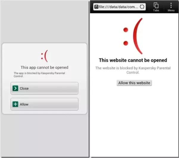 Web bloqueada en Google Chrome