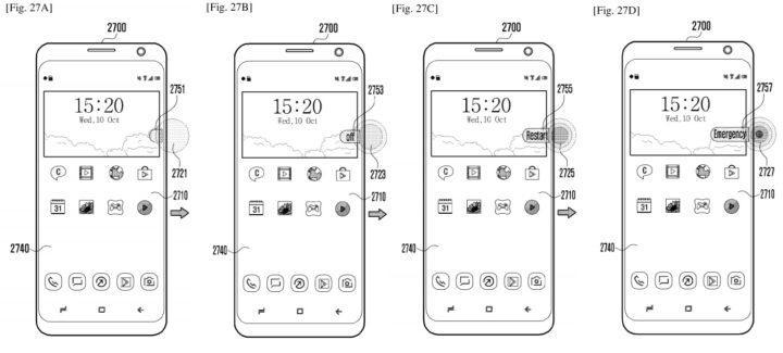 Patente del Samsung Galaxy S10