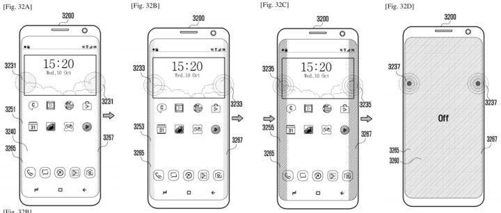Patente para el Samsung Galaxy S10