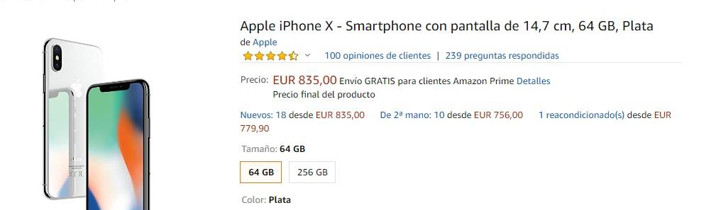 comprar un iPhone X