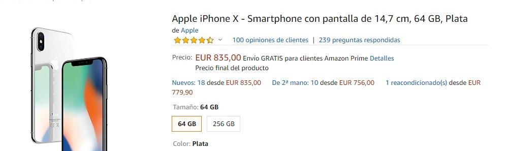 comprar un iPhone X